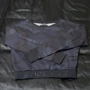 Victoria Sport Black Camo Sweater Sz XS NWT